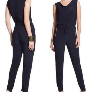 Chico's Navy Blue Sleeveless Jumpsuit